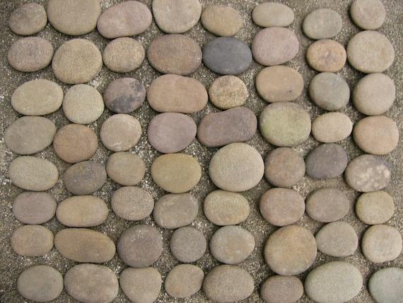 60 River Rocks Flat Painting Writing Stones All Natural Creek