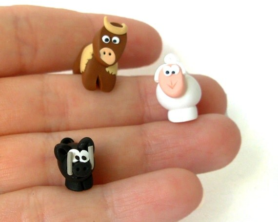 Handmade Agricola Clay Animal Animeeple Tokens