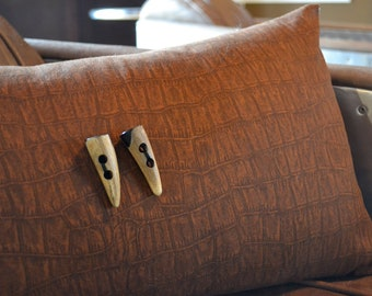 Croc Print Pillow Cover in Rust
