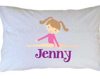 Gymnastics Pillowcase Personalized Travel or Standard Size