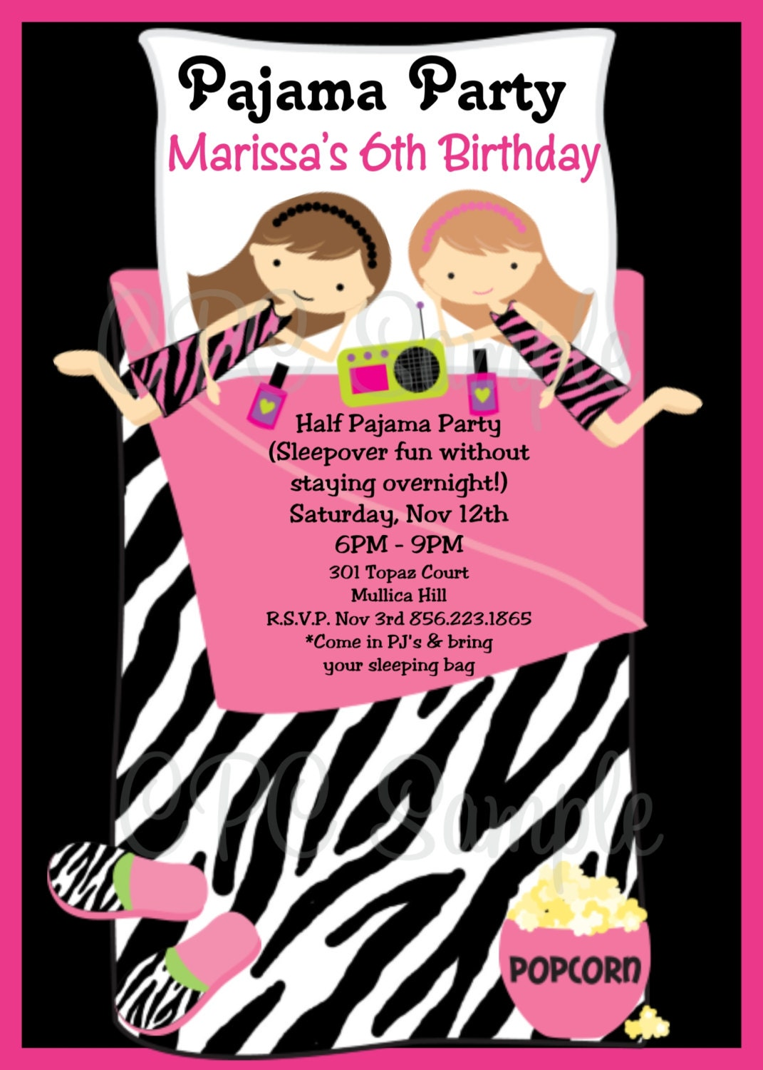 Pajama Party Invitation for your inspiration to make invitation template look beautiful
