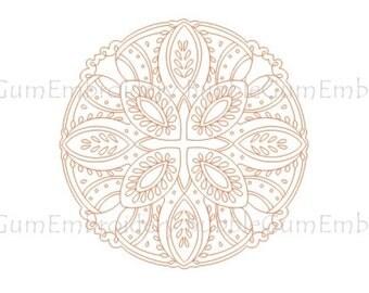 Redwork Folk Mandalas Embroidery Designs Instant Download