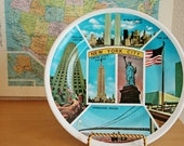 Vintage Souvenir Plate - New York City