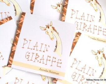 Plain Giraffe - self written and illustrated children's book -