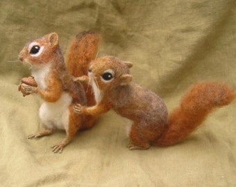 Red Squirrel, needle felted animal woodland nature decor, made to order see description