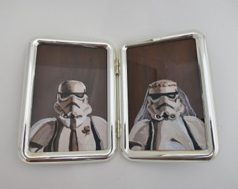 Stormtrooper Wedding, Bride and Groom Cameo Portraits