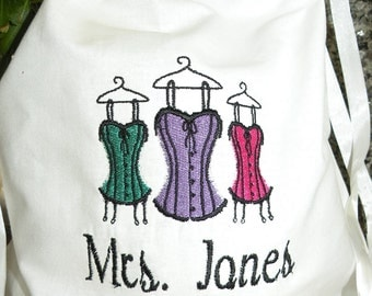 Personalized Lingerie Bag Wedding Gift Bridesmaids Gift Custom Made