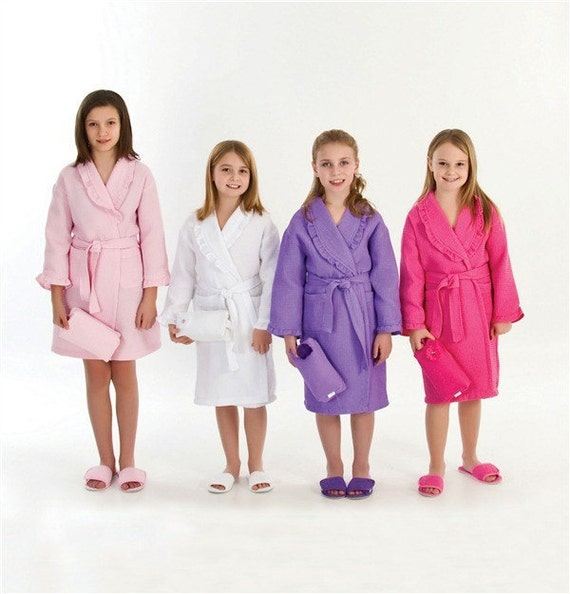 Personalized Flower Girl Children Robe Ruffle Style Cover Up Any color Custom made