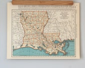 1930s Antique Maps of Louisiana, Kentucky, and Tennessee