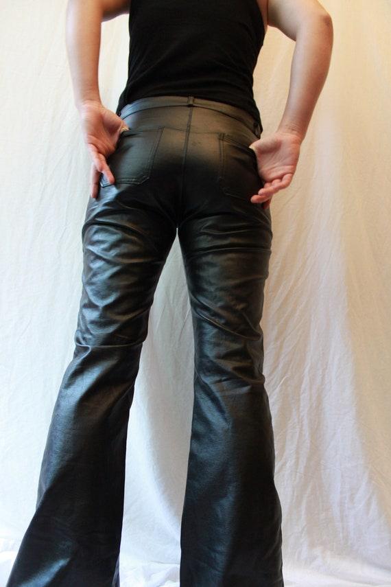 Sale Item Vintage Womens Black Vinyl Pants