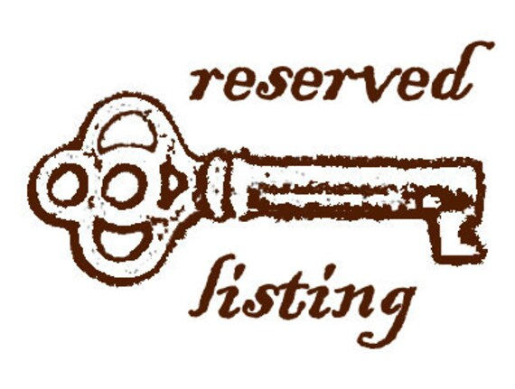 RESERVED LISTING for dontforgetthememory