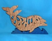 Dolphin Handmade Scroll Saw Wooden Puzzle