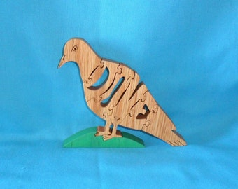 Dove Scroll Saw Wooden Puzzle