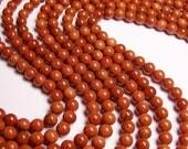 Goldstone - 8mm round - full  strand - A quality - 50 beads per strand - RFG116