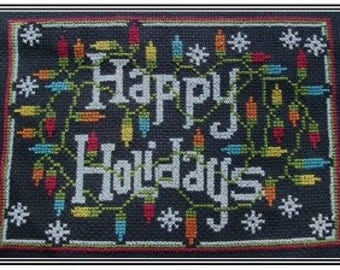 PDF E pattern emailed CHRISTMAS Holiday Cross Stitch Pattern Sampler 122