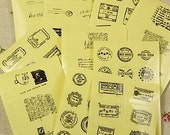 Stickers-Stamps-Clear Stamp Stickers-Set of 68