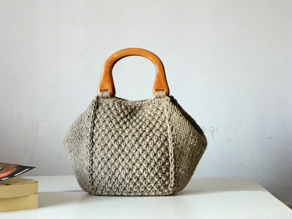 Knitted Wedding Gifts: Items Similar To Knitted Women Tote, Women Fashion Fall