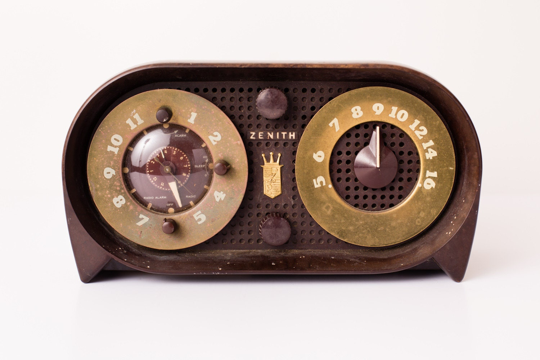 Vintage Zenith AM/FM Radio Clock |Zenith Clock Radio