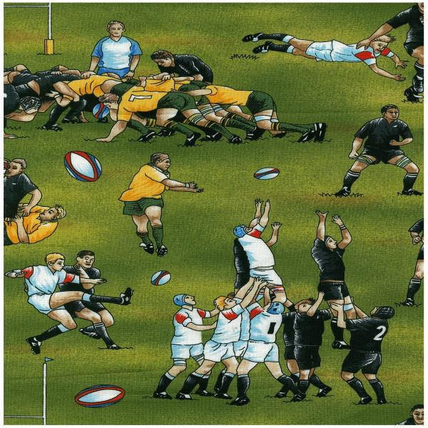 Rugby Fabric All Blacks Team Of New Zealand Novelty Fabric 1