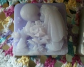 Lavender and Chamomile Kissing Couple Gift Soap ultra-rich Shea and Cocoa butter goats milk soap, 5-1/2 oz each