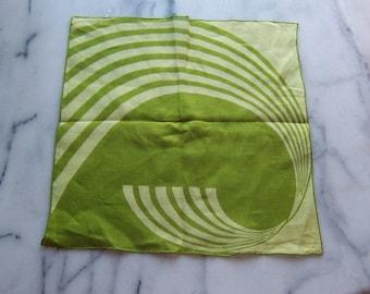 Vintage Irish Linen 'Best Seller' Hanky in Spring Grass Green