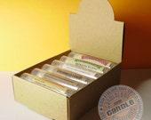 5 Natural Kraft Lip Balm Arched Display Boxes