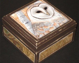Barn Owl Keepsake Box 2