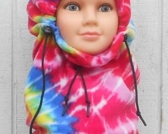 Tye Dye Youth Fleece Balaclava Hat Winter Gift