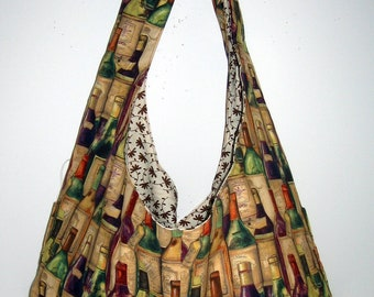 This cute tote  is  great for the wine Lover
