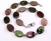Imperial Jasper & Sterling Silver Necklace - N341