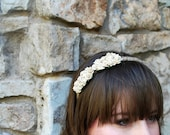 cluster of roses flower headband crown for women and girls: layla