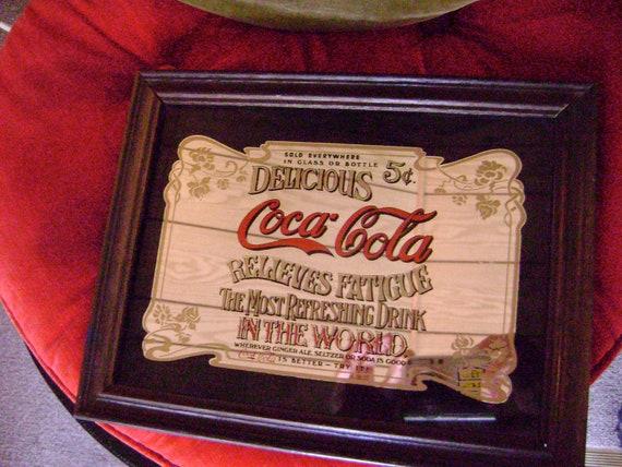 Coca Cola Advertising Sign Mirror