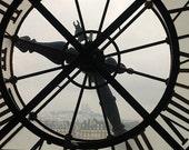 Paris Photography, French Wall Art, Paris Decor, Romantic, New Year, New Day, Time, Parisian Clock, Timeless, Fine Art Photography
