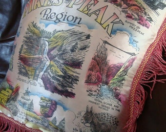Vintage Pikes Peak Satin Pillow Pillowcase Cover