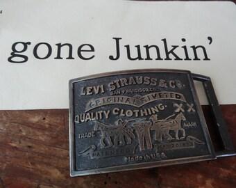 Vintage Levi Belt Buckle Brass