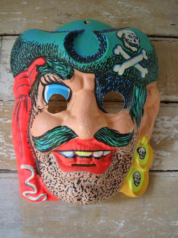 Vintage Pirate Mask Halloween Rare Find 1950s or 60s