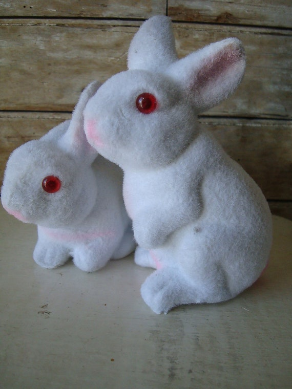 Vintage Easter Felted Bunny or Rabbit 1950s or 60s
