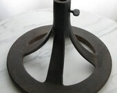 Industrial Iron Base Display Stand