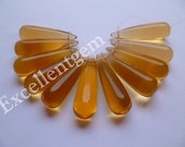 Full strand  Smooth Teardrop in citrine Color- 35 x 10mm-