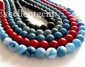 10strands Wholesale Price bulk round beads in 10MM Coral,Lava and Weathering of Agate--380pcs