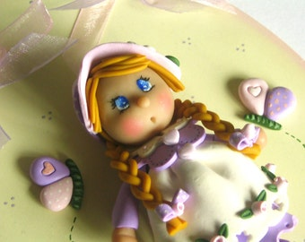Sweet Doll - Nursery wall art - Polymer Clay