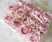 One Dozen Parchment Paper Pink Roses - Destash Perfect For Crafting......