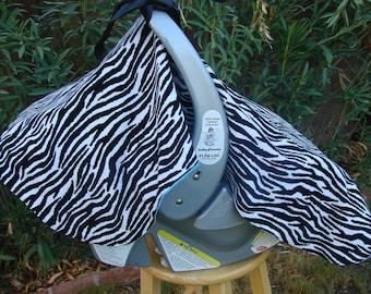 Baby Car Seat Canopy Zebra Print