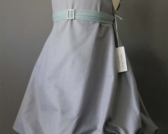 NEW dove Grey Bubble Dress with sparkle belt  2T   LIMITED (only 1 left) crystal belt