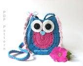 Crochet Owl Purse Pattern Bag Girls Handbag MariMartin Instant PDF Download