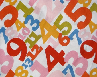 """SALE : Alexander Henry """"what's your number"""" fabric FQ or more"""