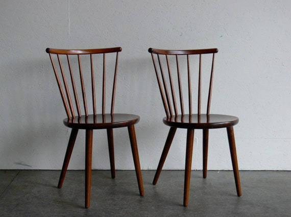 Mid Century Modern Swedish Side Chairs (Set of 2)