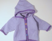 Baby Sweater - Purple with Stars - Size 6 M