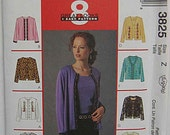 Misses' Jackets & Tops, Twin Sets, 8 Great Looks from 1 Pattern, McCall's 3825 Sewing Pattern UNCUT, Avail in Sizes XS-S-Med OR Large-XLarge