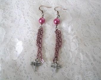 Dragonfly Earrings, boho jewelry bohemian jewelry gypsy jewelry hippie jewelry hipster new age metaphysical moroccan bohemian earrings
